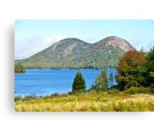 Jordan Pond, The Bubbles, Early Fall, Acadia NP, Maine Canvas Print