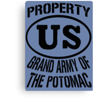 Property Grand Army of The Potomac Canvas Print