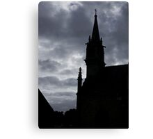 Brittany Church Silhouetted Against a Threatening Sky - France Canvas Print
