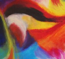 """""""Fiesta Nocturna"""" original abstract landscape by Laura Tozer by Laura Tozer"""