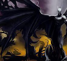 Batman So Dark! :o by Scalpedmonkey