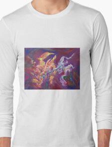 """Turbulence"" original abstract artwork by Laura Tozer Long Sleeve T-Shirt"
