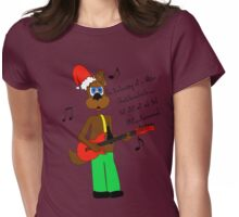 Christmas Spot the Rockin' Dog Womens Fitted T-Shirt
