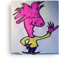 Adored Pink Dude  Canvas Print