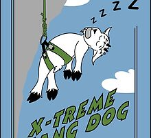 Hang Dog Mountain Goat Kid Prints & Cards by CarabinerSport