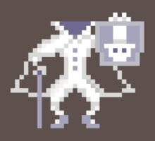 8-bit Hatbox Ghost - Haunted Mansion by Tiffany Bailey