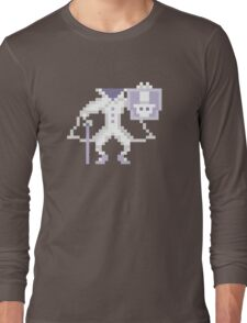 8-bit Hatbox Ghost - Haunted Mansion Long Sleeve T-Shirt