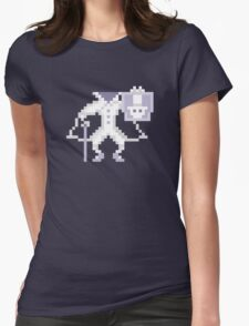 8-bit Hatbox Ghost - Haunted Mansion Womens Fitted T-Shirt