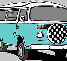 Turquoise VW Bus by MartinSpayne