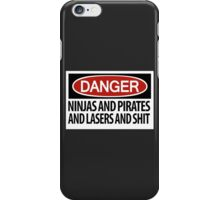 Ninjas and Pirates and Lasers, Oh My! iPhone Case/Skin