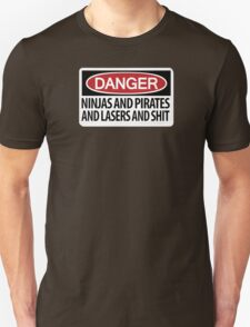 Ninjas and Pirates and Lasers, Oh My! T-Shirt