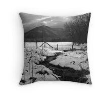 WINTER, CADES COVE Throw Pillow