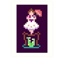 8-bit Haunted Mansion Ally Girl Art Print