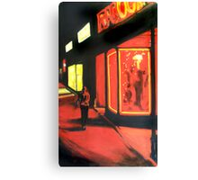 Washington Street in Red Canvas Print