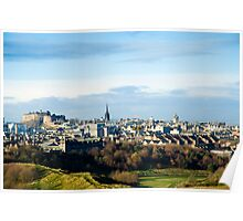 Edinburgh Castle from the Queen's Park Poster