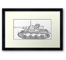 Panzer IV Concept Sketch Framed Print