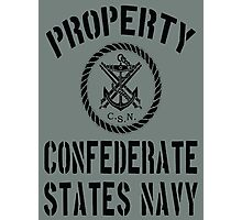 Property Confederate States Navy Photographic Print