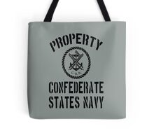 Property Confederate States Navy Tote Bag