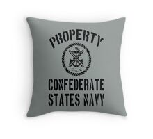 Property Confederate States Navy Throw Pillow
