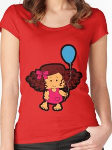 My blue balloon... Women's Fitted Scoop T-Shirt