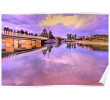 Reflections In Lavender - Narrabeen Lakes - The HDR Series Poster