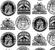 hidden temple logo leggings by hiddentemple