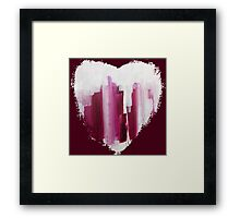 Draw Your Swords - Abstract Heart Framed Print