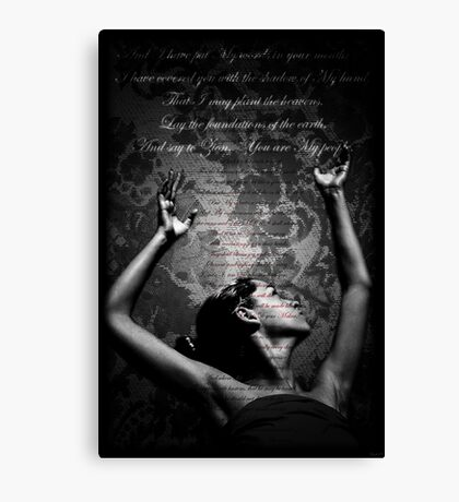 Lift Up Holy Hands Canvas Print