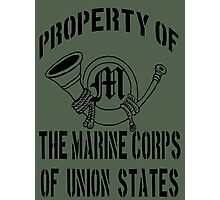 Property Marine Corps of Union States Photographic Print