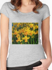 DAFFODILS BIG TIME Women's Fitted Scoop T-Shirt