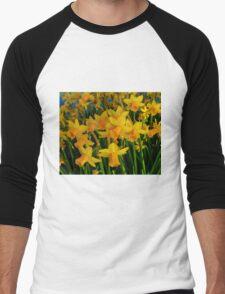 DAFFODILS BIG TIME Men's Baseball ¾ T-Shirt