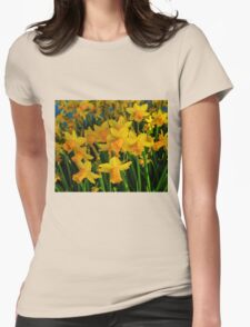 DAFFODILS BIG TIME Womens Fitted T-Shirt