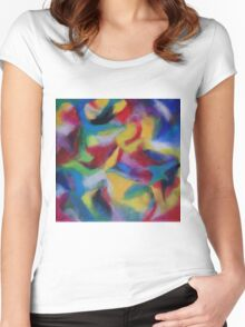 """Serendipity"" original artwork by Laura Tozer Women's Fitted Scoop T-Shirt"