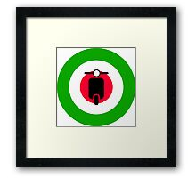 Scooter target - Mods Italy Framed Print