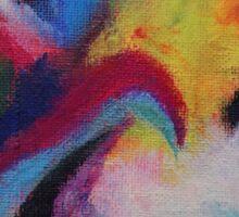 """Azzurro"" original abstract artwork by Laura Tozer Sticker"