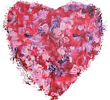 Wild and Unruly - Abstract Heart Photographic Print