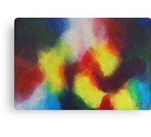 """Giallo"" original abstract artwork by Laura Tozer Canvas Print"