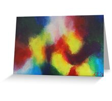 """Giallo"" original abstract artwork by Laura Tozer Greeting Card"