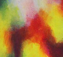"""Giallo"" original abstract artwork by Laura Tozer Sticker"