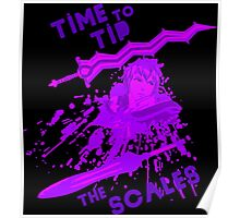 time to tip the scales! Poster