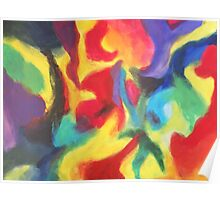 """Touch of Madness"" original abstract artwork by Laura Tozer Poster"