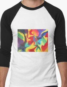 """""""Touch of Madness"""" original abstract artwork by Laura Tozer Men's Baseball ¾ T-Shirt"""