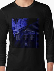 Neon Blue T.A.R.D.I.S. Long Sleeve T-Shirt