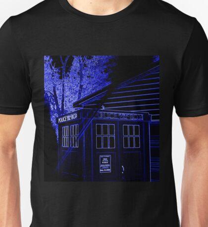 Neon Blue T.A.R.D.I.S. Unisex T-Shirt