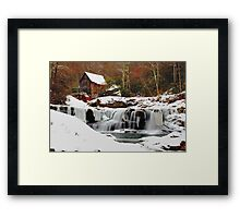 Frozen Grist Mill Framed Print