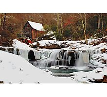 Frozen Grist Mill Photographic Print
