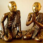 the Buddha's two disciples by steppeland