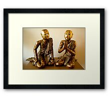 the Buddha's two disciples Framed Print