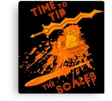time to tip the scales! Canvas Print