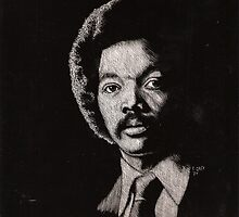 Autographed scraper-board of the Reverend Jesse Jackson- autographed by dewey1
